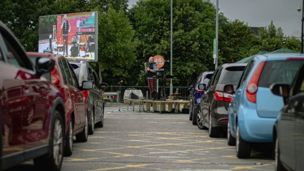 Open Local church hosts special drive-in service for worshippers, in Sainsbury's car park