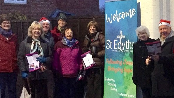 Open Evangelising at the Station for Christmas