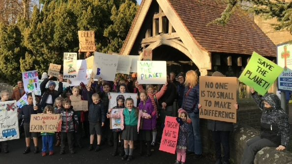 Open School raises awareness of Climate Change with protest