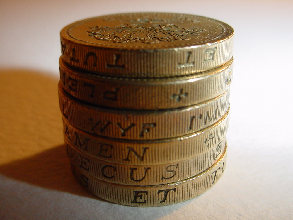 Pound coins photo