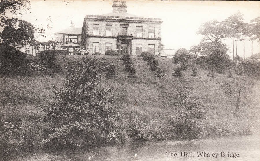 Old picture of Whaley Hall from Brookfield Pond