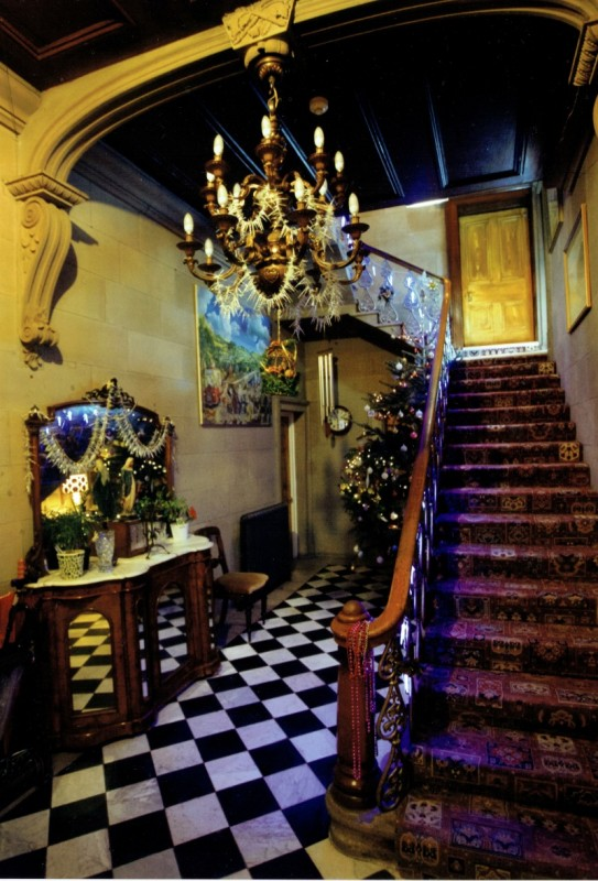Entrance Hall at Christmas