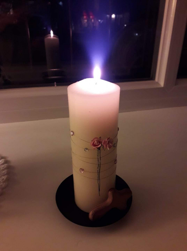 Sunday night candle 22 March
