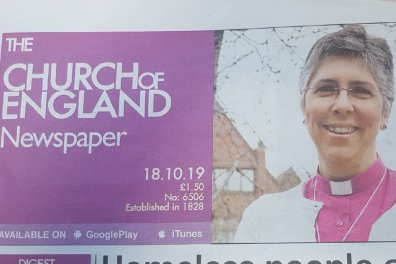 Open Bishop Guli's newspaper article about our vision for a truly diverse Church