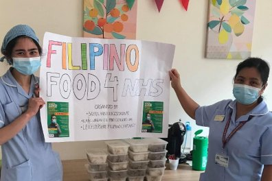 Open Filipino Chaplaincy provides Filipino food for NHS and care workers
