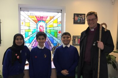 Open St Barnabas CofE School welcomes Bishop Martyn for an afternoon