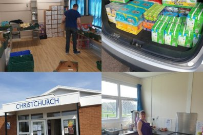 Open Emergency food bank at Christchurch Thurnby Lodge