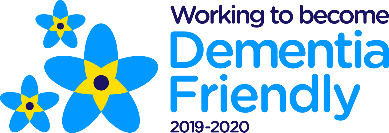 'Working to become Dementia-friendly' logo