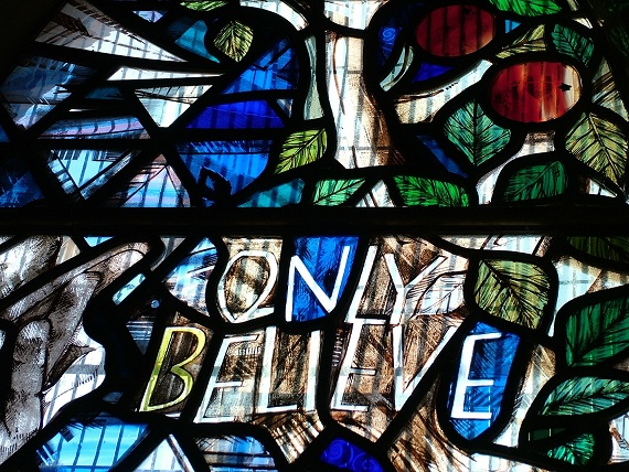 A detail from the Stell window in St Mary's