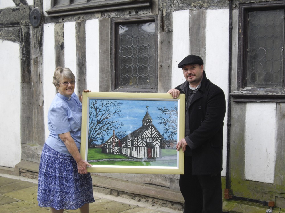 Presentation of painting by Jonathan Howson