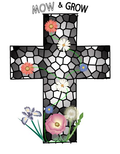 MOW & Grow Cross and Flowers