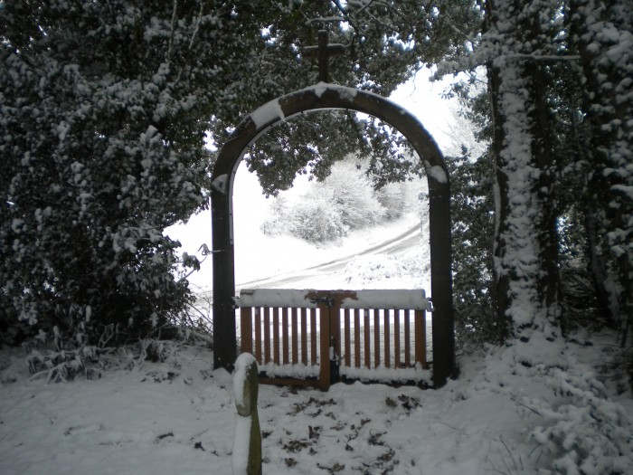 The Lych Gate looking towards Boarhunt Road