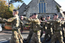 Troops arriving at the church