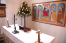 Lady chapel altar and Barbara Amstrong memorial frieze
