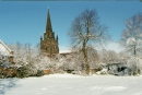 All Saints' under snow