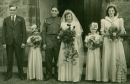 Close up of Ken Bullock's 1945 wedding