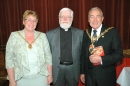 The Mayor's Consort, Revd Stephen Buckley and The Mayor, Cllr Michael Evans