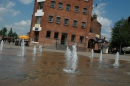 Fountains at South Quay by the Severn