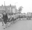 Dormston Guides on parade in Dudley, 1966 led by Pauline Gregory.