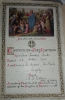 Photo#18 Baptism certificate of Irene Baines, nee Smith in 1942. Vicar: Trevor KIlborn.
