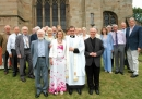Derrick with All Saints' at Worcester Cathedral, 2012 for Father Rob's ordination as Vicar.