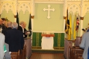 #2 The standards of Sedgley's uniformed organisations are placed behind the altar