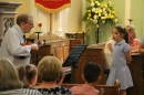 Woodsetton pupil's solo performance.