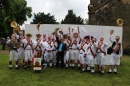 1st Sedgley Morris Men celebrate with Archdeacon Nikki Groarke.