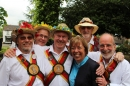 The Morris Men with Archdeacon Nikki Groarke