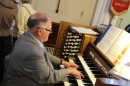 All Saints' Organist and Choirmaster Martin Platts' organ recitals during Saturday's opening.
