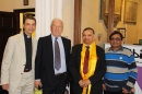 Revd Canon Andrew Wickens with Church Warden Keith Tomlinson, Rajesh Patel of Dudley's Hindu community and a visitor from India.