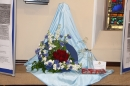 1940s arrangement on an RAF theme, by Rosemary Moss, All Saints' Flower arrangers.