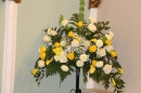 Margaret Woodhall's altar arrangement.