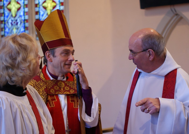 Bishop Alistair with Michael and Carol