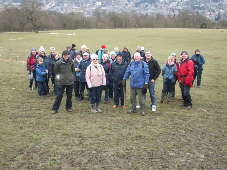 Walkers set off from Ilkley