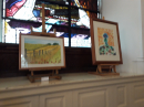 Art exhibition in church