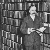 WRN in his library at Hampstead