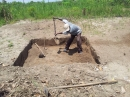 Starting to dig out the pit latrine (the loo!)
