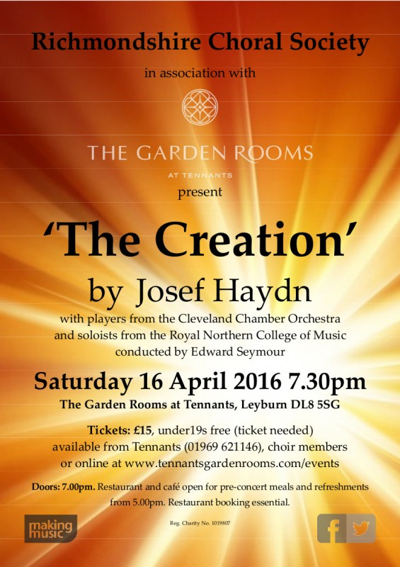 April 2016 - Haydn 'The Creation'