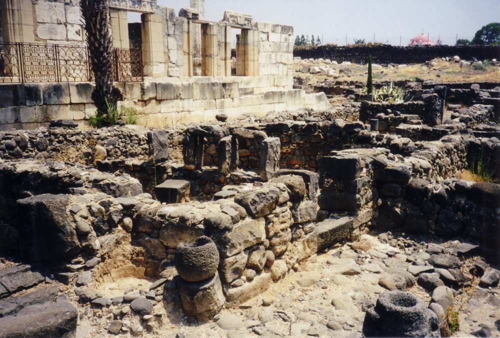 Ruins of the 1st century synagogue in Capernaum