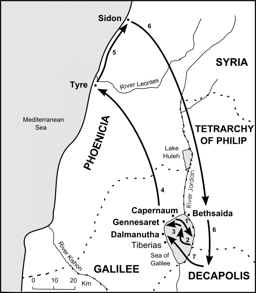 Map of Jesus among the Gentiles
