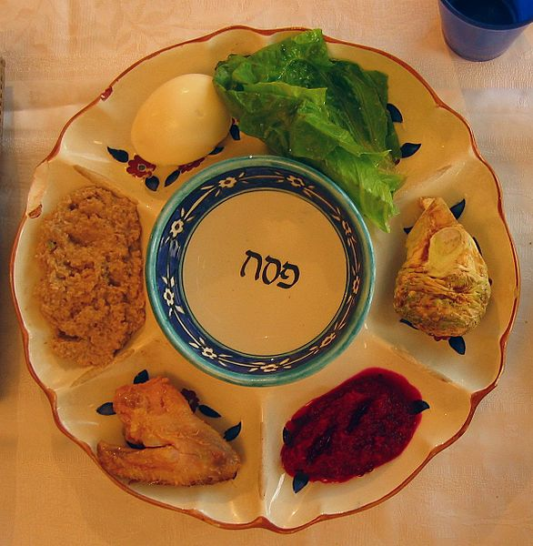 A Passover plate