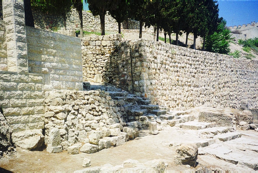 The sacred steps leading down into the Kidron Valley