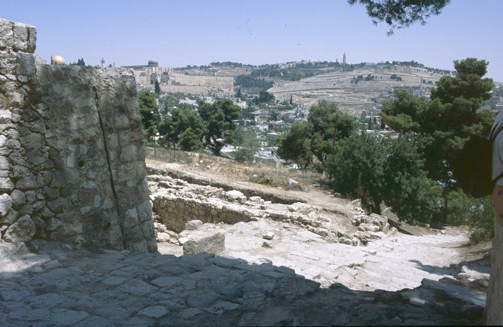 Looking axross from the Old City to the Mount of Olives