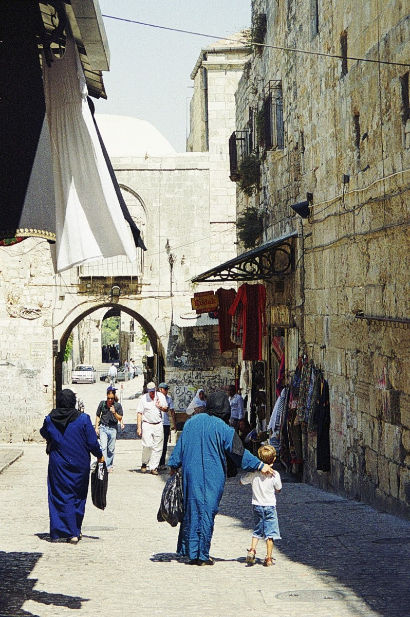 Via Dolorosa, Jerusalem, near St Stephen's Gate