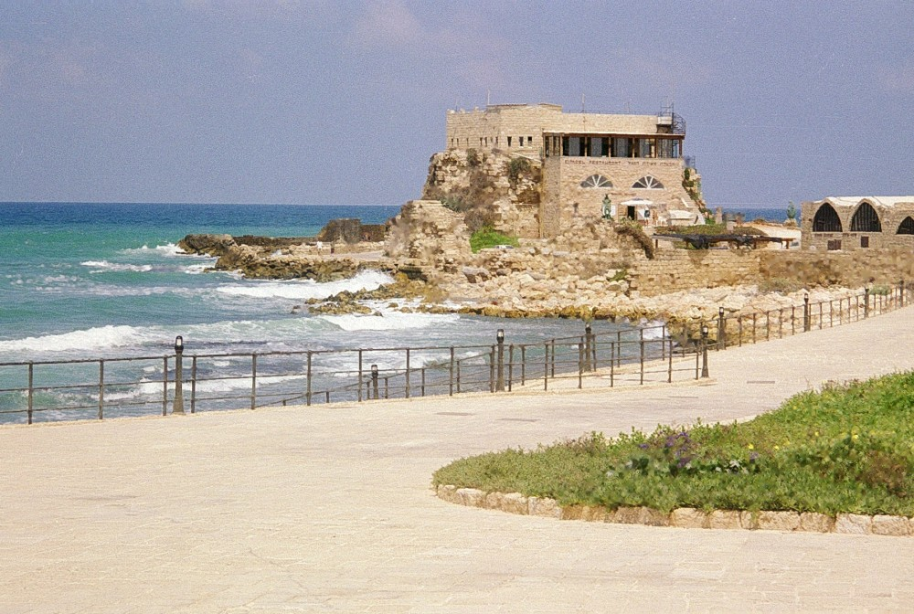 The old harbour at Caesarea
