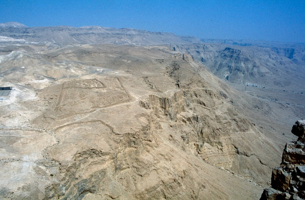 Roman seige fort below the summit of Masada