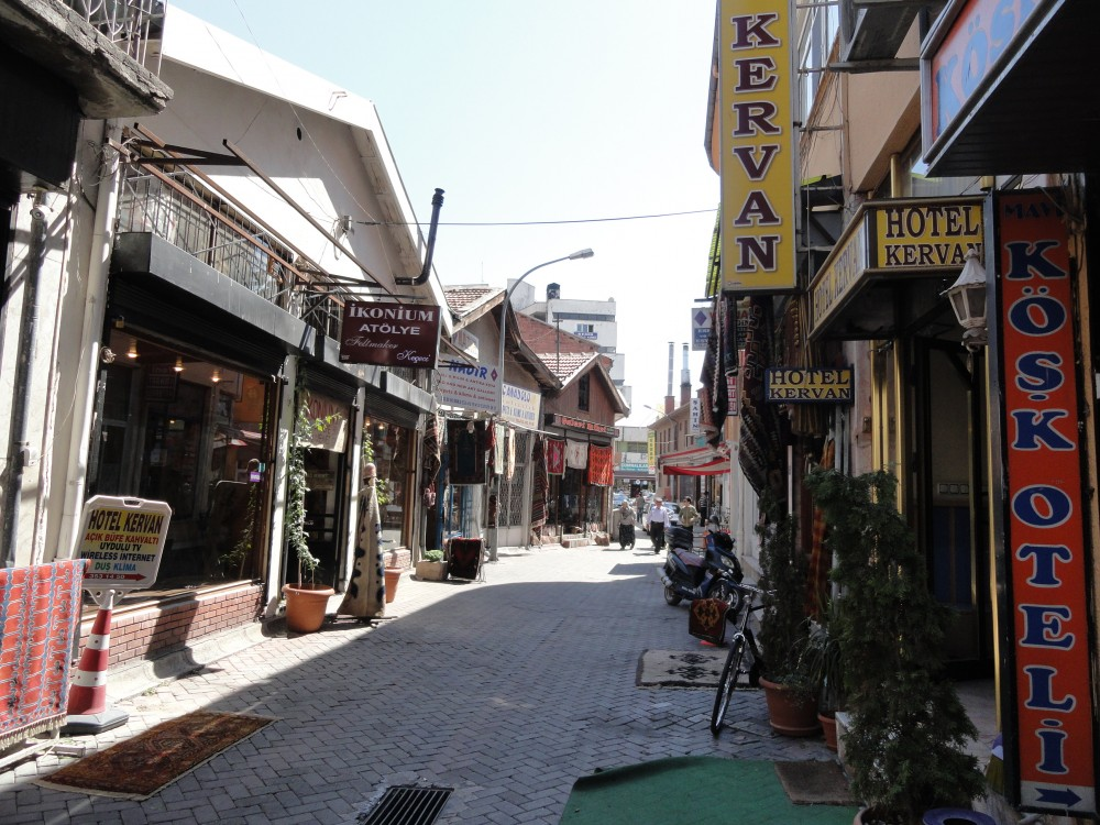 Shops in downtown Konya (Iconium)