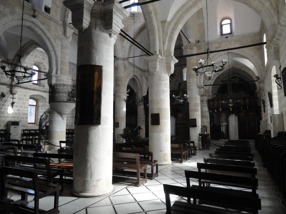 Inside a Syrian Orthodox church in Antioch in Syria