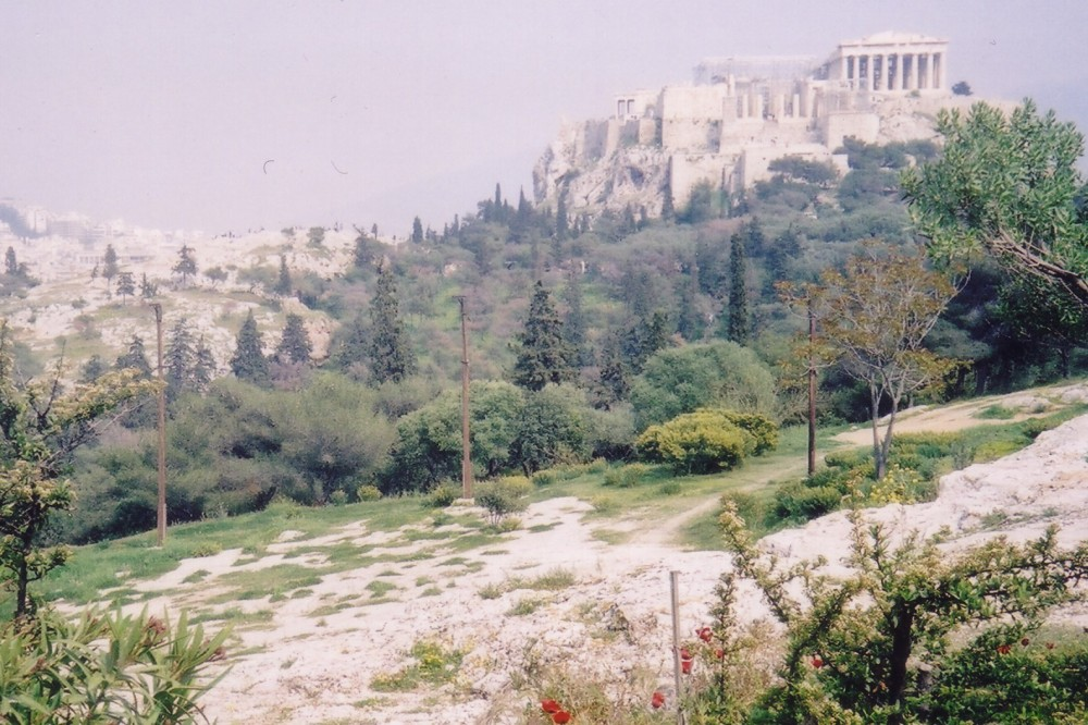 The site of the Areopagus on Mars Hill, Athens
